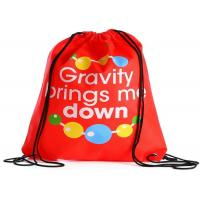 Non Woven Printed Drawstring Bags Custom Printed Handle With Thin Straps Manufactures
