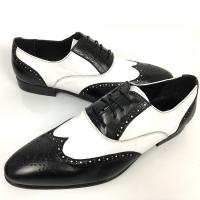 Business Men'S Wedding Dress Shoes / Mens Woven Leather Lace Up Shoes Manufactures