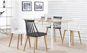 Gray PP Plastic ISO9001 810MM Ergonomic Dining Chair Manufactures
