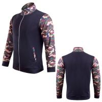Buy cheap Men's outdoor sport track suit gym wear compression running jacket apparel from wholesalers