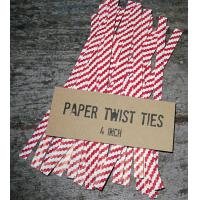 China paper twist ties/bag closures/clips on sale