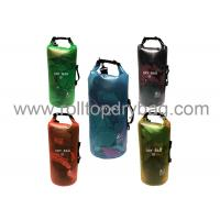 Buy cheap 10l Black Roll Top Dry Bag 0.3mm Adjustable Trasparent Pvc Material 19 X 56 Cm from wholesalers