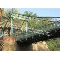 Tall Steel Modular Rope Suspension Bridge Crossing River Valley Temporary or Permanent Manufactures