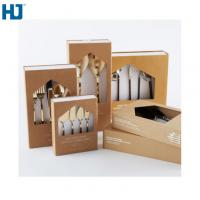 Brown Tableware Cardboard Packing Boxes Customized Folding With Big Window Hanger Manufactures