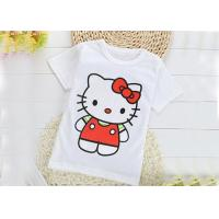Breathable Crew Neck Infant Toddler T Shirts 0.16 Kg Silk Screen Printing Manufactures