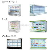 Pure Copper Tube 380V Refrigerated Display Cabinets For Fruit Manufactures