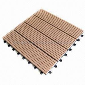 Deck tile, DIY tile, garden using, water-resistant, wood plastic composite material Manufactures