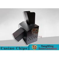 Black Automatic Casino Game Accessories For Cutting Off Broken Poker Cards Manufactures