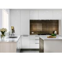 China Lacquer Finish MDF Kitchen Cabinets With Blum , Hettich , Chinese Brand Hardware on sale