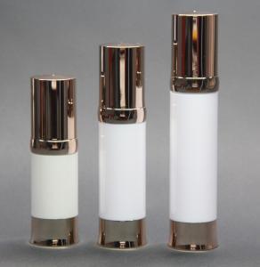 Golden airless pump metallic airless bottle 20ml,30ml,40ml, airless serum bottle Manufactures