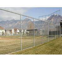 Professional  Metal Chain Link Fence Galvanized Diamond Mesh Fencing For Public / Sport Manufactures