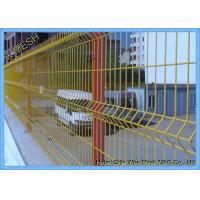 Buy cheap 3D PVC Coated Green Security Steel Fence , 5.0mm Wire Mesh Fence Panels from wholesalers