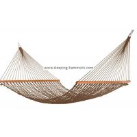 Soft Spun Deluxe Polyester Rope Hammock , Extra Wide Brown Portable Mesh Hammock Manufactures