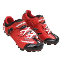 Red Color Waterproof MTB Cycling Shoes Comfortable Lock Pedal Designed Manufactures