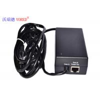 Black POE Power Adapter 10 / 100Mbps IEEE 802.3af Compliant Compact Size Manufactures