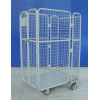 Portable Lightweight  Roll Cage Trolley 66KG 4 Sided Roll Container with castors Manufactures