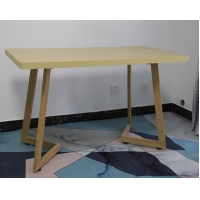 Restaurants Electrostatic Spray 750mm MDF Dining Table Manufactures