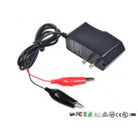 Alligator Clips Battery Charger With LED When Charging Red Charged Green Manufactures