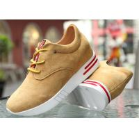 Cow Suede Leather Upper Casual Sport Shoes , Platform Heel Girls Casual Shoes Manufactures