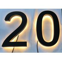 """Waterproof 3D Acrylic Letters ,10"""" 3D Backlit House Numbers Energy Saving Long Lasting Manufactures"""
