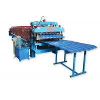 Metal Roofing Sheet Double Layer Roll Forming Machine By Chain Hydraulic Decoiler Manufactures
