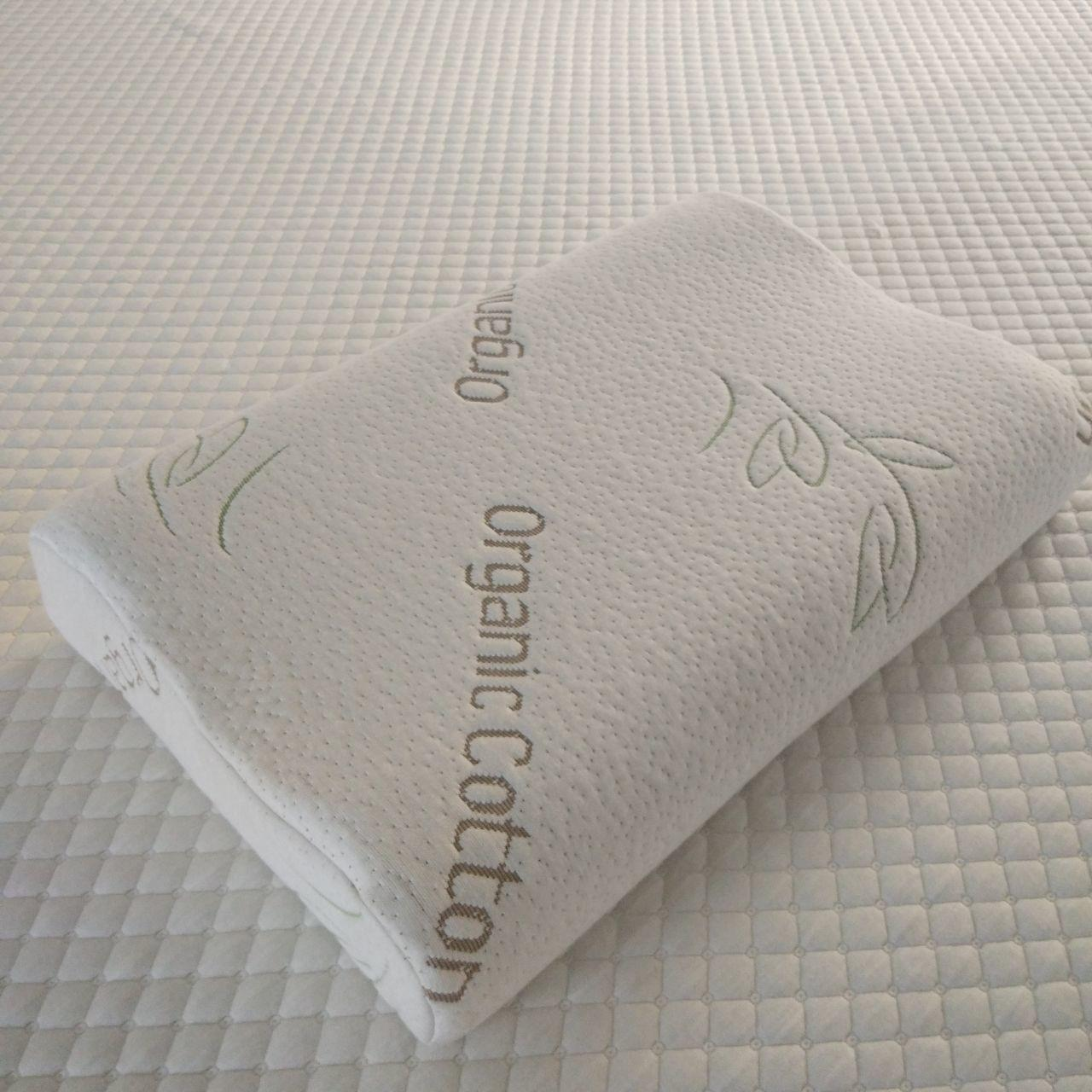 China Contour wedge pillow, back support memory foam pillow with washable organic cotton fabric on sale
