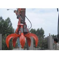 Cheap 5 Cylinders Excavator Grapple , Hydraulic Orange Peel Grapple for sale