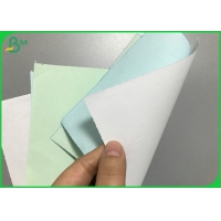 50gsm Blue Impression Carbonless NCR Paper Jumbo Roll for Invoice Printing Manufactures