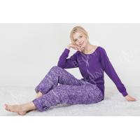 Fashionable Violet Womens Pyjama Sets Long Sleeve Top Australian Design Manufactures
