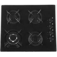 60cm black glass built in gas hob Manufactures