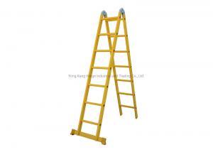 Yellow Foldable 3m 2X5 Fiberglass Step Ladder Manufactures