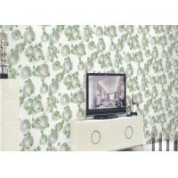Cheap Green Plants And Round Pattern 3D Embossed Wallpaper Surface Treatment for sale