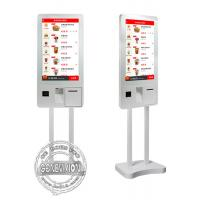 32 Inch PCAP Touch Screen Self Payment Kiosk Windows10 Ordering Machine Kiosk With Thermal Printer Manufactures