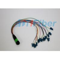 MPO / APC - LC / UPC 12 Cores Fiber Optic Pigtail Ruggedized round cable Manufactures
