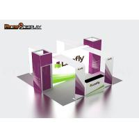 Tension Fabric Backlit Trade Show Booth Advertising Display Stand With LED Light Box Manufactures