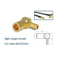 Right Angle Smb Coax Connector / Cable RG316 RG174 Smb Plug Connector Manufactures