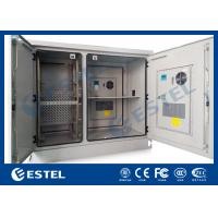 Telecommunication Base Station Cabinet , Outdoor Electrical Cabinets Two Bay ET1678140 Manufactures