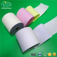 Laser Printers NCR Carbonless Carbon Paper Roll For POS Printers / Invoices Manufactures