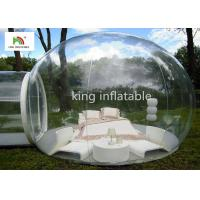 4.5m Transparent Inflatable Bubble Tent With Tunnel For Outdoor Camping Rent Manufactures