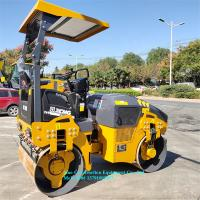 Small Serial Double Drum Vibratory Road Roller XMR303 Three Level Vibration Reduction Manufactures
