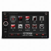 Car Radio with 6.2-inch WVGA TFT LCD Fixed Panel and Built-in Navigation, Supports Bluetooth Manufactures