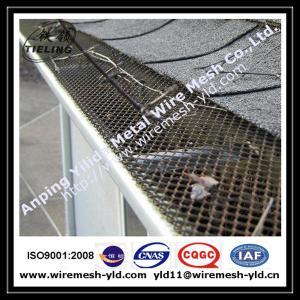PVC coated aluminum expanded metal gutter guard,gutter mesh Manufactures