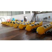 3 Seats Inflatable Water Banana Boat With 0.9mm PVC Tarpauline Material Manufactures