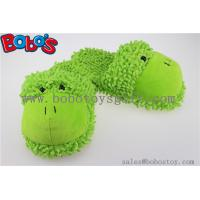 Non-Slip Women Shoe Plush Stuffed Soft Frog Animal Home Slippers Manufactures