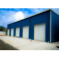 Blue Light Steel Structure Building With Sandwich Panel / Prefab Metal Buildings Manufactures