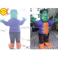 Cheap Cosplay Green Man Inflatable Shrek Costume Mobile Cartoon Character for sale
