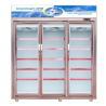 Buy cheap 1700L Upright 3 Glass Door Display Freezer For Frozen Food / Dumpling from wholesalers