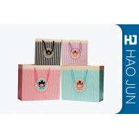 Color Printed Cardboard Shopping Bags , Fashional Paper Carry Bags