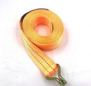 Polyester Webbing Lashing Strap Ratchet Tie Down Buckle Belt With Metal J Hook Manufactures