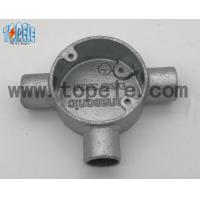 Aluminum / Malleable Iron BS4568 Conduit Three Way Junction Box Long Life Time Manufactures